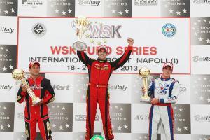 Maranello_KZ2_Zanchetta_podium wsk euro series sarno