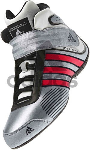 Adidas Daytona Silver Red Black - FIA Approved
