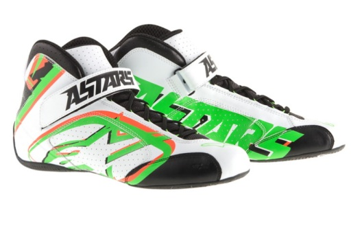 Alpinestars Tech 1-K NRG Limited Edition 2014 - White  Green Fluo