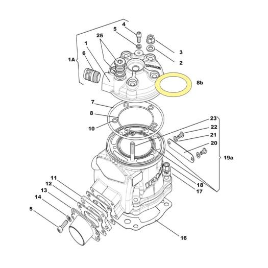 Parilla X30 Super culasse cylindre renneskart