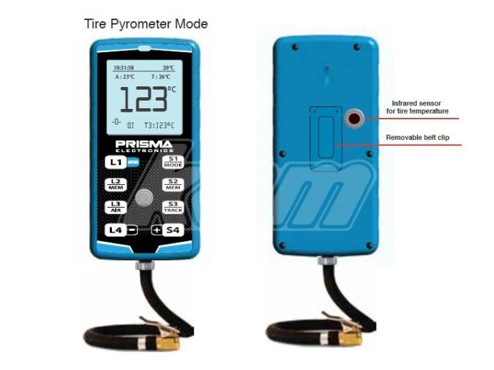 Prisma manomètre - chronométre 4 karts - T° pneus D063Z